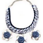 C263-Collar Abril Negro y Azul